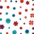 beautiful flowers pattern background - 242596576