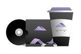 corporate merchandise elements cartoon - 242599956