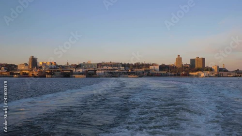 Staten Island in the Morning, New York City. View from the Water. United States of America