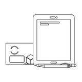 corporate merchandise elements cartoon - 242601905