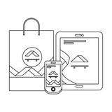 corporate merchandise elements cartoon - 242601964