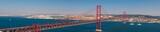 Panoramablickauf die Brücke Ponte 25 de Abril