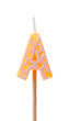 Birthday candles alphabet isolated on white background