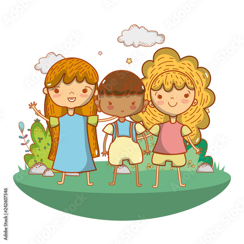 cute children cartoon - 242607546