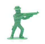 plastic toy cowboy isolated on white background - 242611146