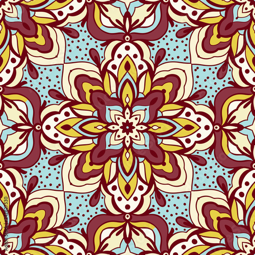 Seamless pattern with arabesques - 242627530