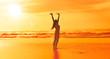 Quadro Glückliche Frau am Strand