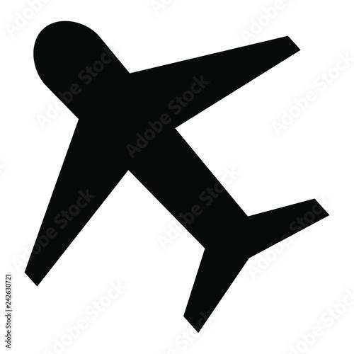 Plane icon, aircraft vector icon