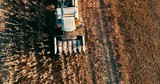 Aerial view of agriculture industry - harvesting - 242642563