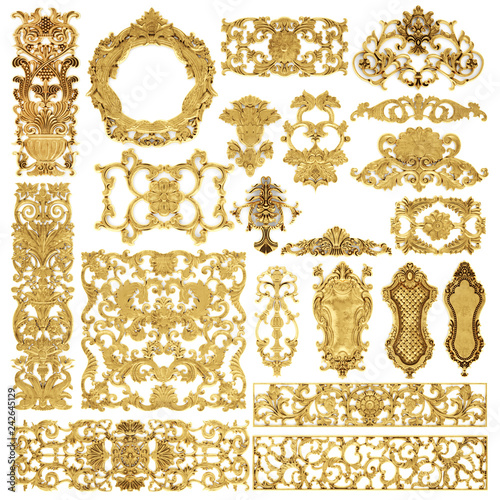 Gilded stucco, collection gold cartouche - 242645129
