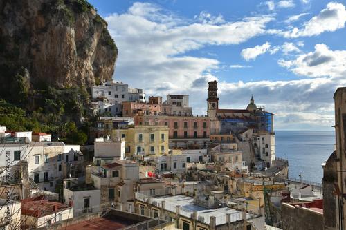 mata magnetyczna The small town of Atrani on the Amalfi coast in Italy