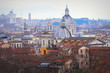 Quadro Panorama of the old town from the roof of the castle, Rome, Italy