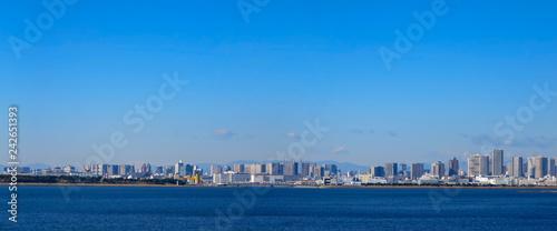 obraz PCV 舞浜から見た東京ベイエリアのパノラマ写真