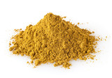 Pile of curry powder isolated on white background - 242653564