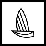 Vector Yacht Icon - 242662706