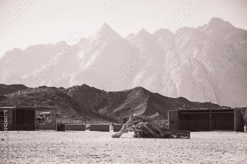 village in the desert and mountains in Egypt, travel
