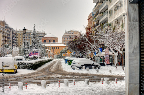 Obraz na płótnie Winter in Thessaloniki, Greece