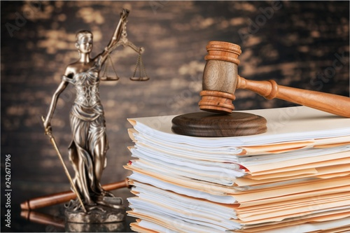Judge hammer and documents on background © BillionPhotos.com