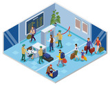 Travel People Isometric Composition - 242672311