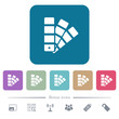 Color swatch flat icons on color rounded square backgrounds
