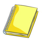 office supplies notepad on a spiral. illustration - 242682722