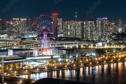 obraz PCV 東京 ベイエリア テレコムセンターからの夜景