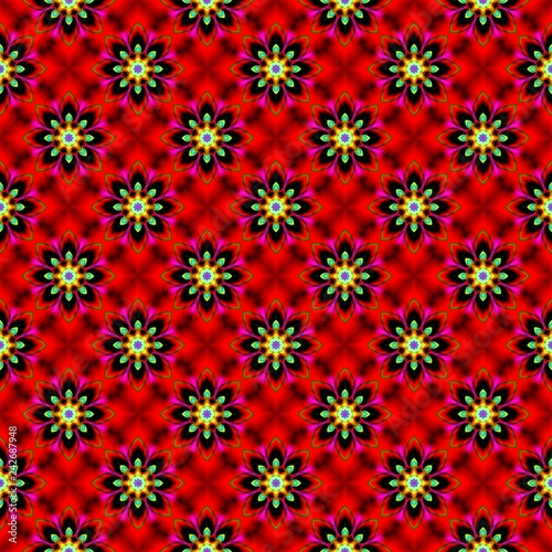Abstract beautiful pattern for design. Can be used as fabric, template - 242687948