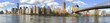 Panoramic view of Manhattan skyline from Roosevelt Island, New York City
