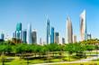 Leinwanddruck Bild - Skyline of Kuwait City at Al Shaheed Park