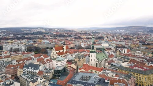 mata magnetyczna Cityscape of Brno in Czech Republic. Aerial view