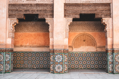 A look inside the beautiful Ben Youssef Madrasa in Marrakech, Morocco
