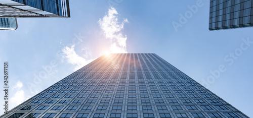 Leinwanddruck Bild modern office buildings skyscraper in London city