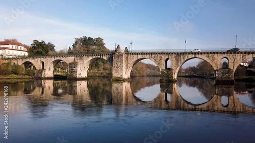 mata magnetyczna Roman bridge in Ponte da Barca. Ponte da Barca belongs to the vinho verde demarcated wine region.