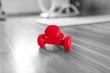 Leinwanddruck Bild - kleine Hanteln auf dem Boden