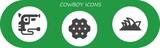 cowboy icon set - 242699556
