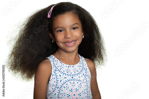 Portrait of a cute african american small girl