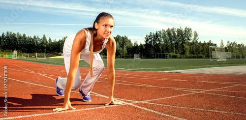Foto Murales beauty girl start run