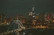Edmonton night skyline Walter Dale Bridge