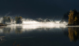 Nebel. Östereich. Salzburg. Sonnenaufgang.