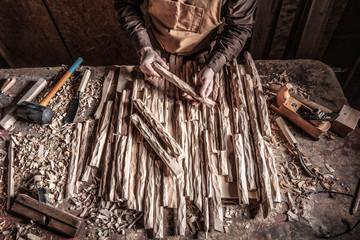 carpenter in workshop © tiero