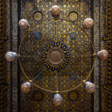 Amazing decorated chandeliers at the Qalawun complex (Arabic: مجمع قلاون), a massive complex in islamic Cairo, Egypt