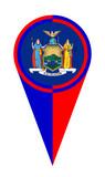 New York Map Pointer Location Flag