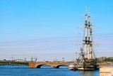 Bridge and the schooner.
