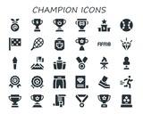 champion icon set - 242711585