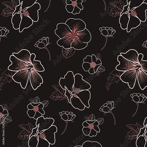 Fashionable pattern in small flowers. Floral background for textiles. - 242717923