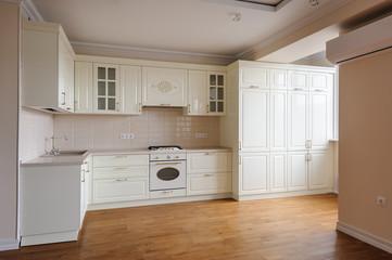 Classic cream colored kitchen © starush