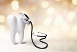 Dentist mirror tooth white background isolated shape - 242721381