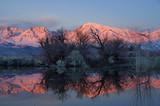 Winter Mountain Sunrise Reflection