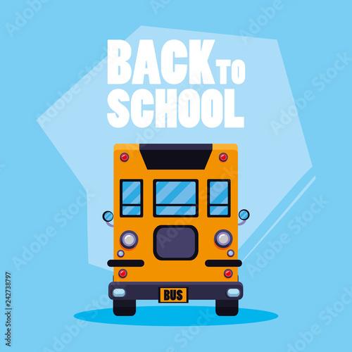 Fridge magnet school bus transport icon