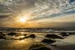 Quadro Sonnenuntergang an der Ostsee auf Hiddensee